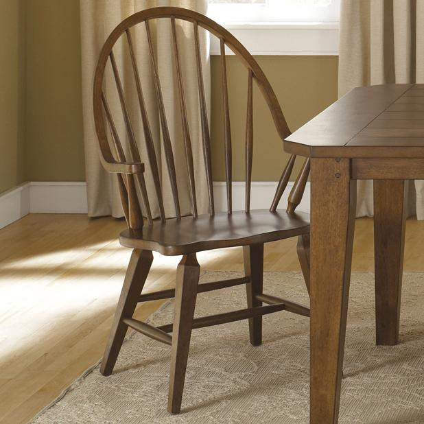Hearthstone Windsor Back Arm Chair by Liberty Furniture at Lapeer Furniture & Mattress Center