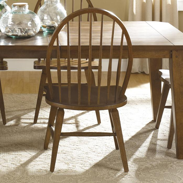 Hearthstone Windsor Back Side Chair by Liberty Furniture at Northeast Factory Direct