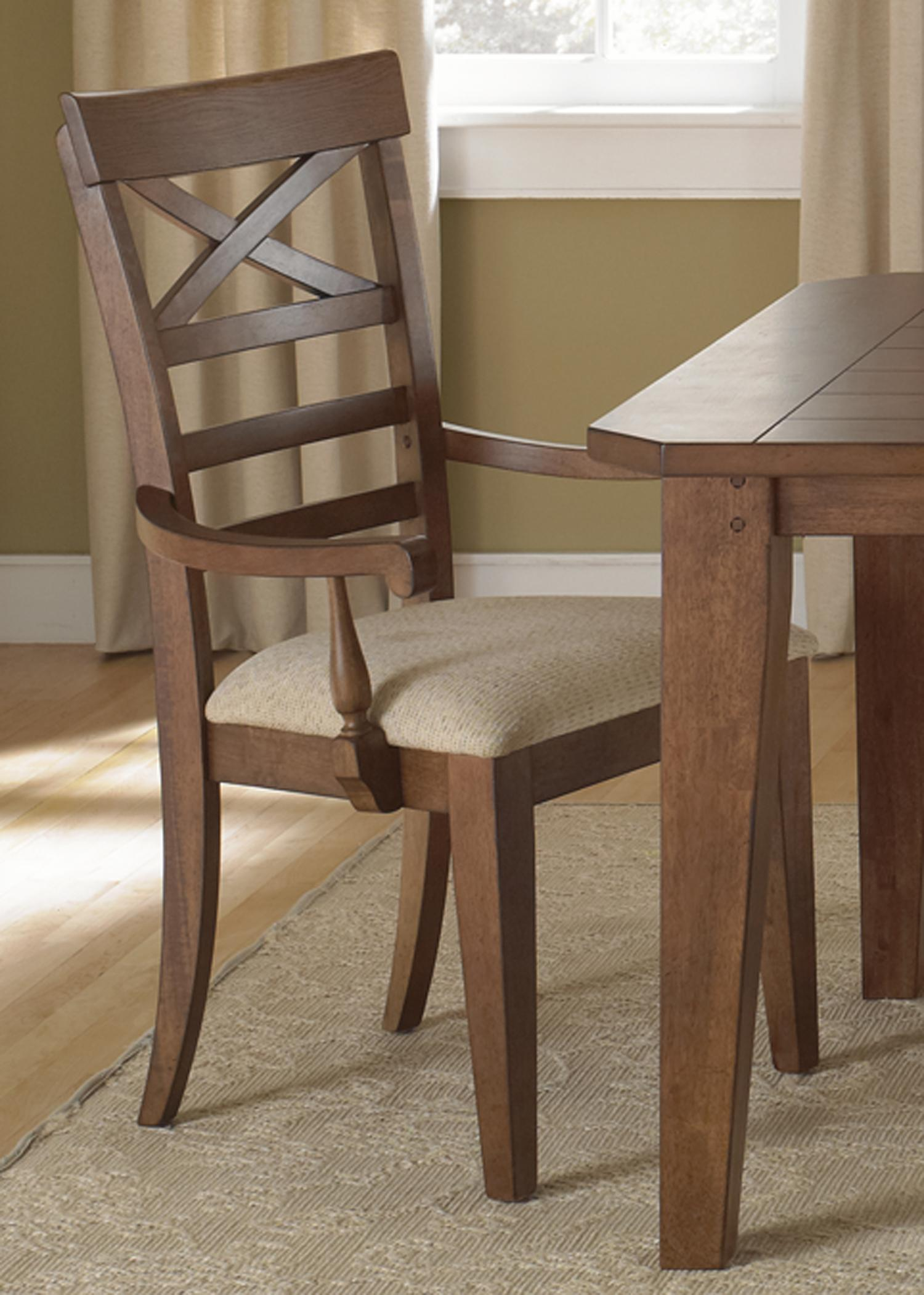 Hearthstone X Back Arm Chair by Liberty Furniture at Lapeer Furniture & Mattress Center