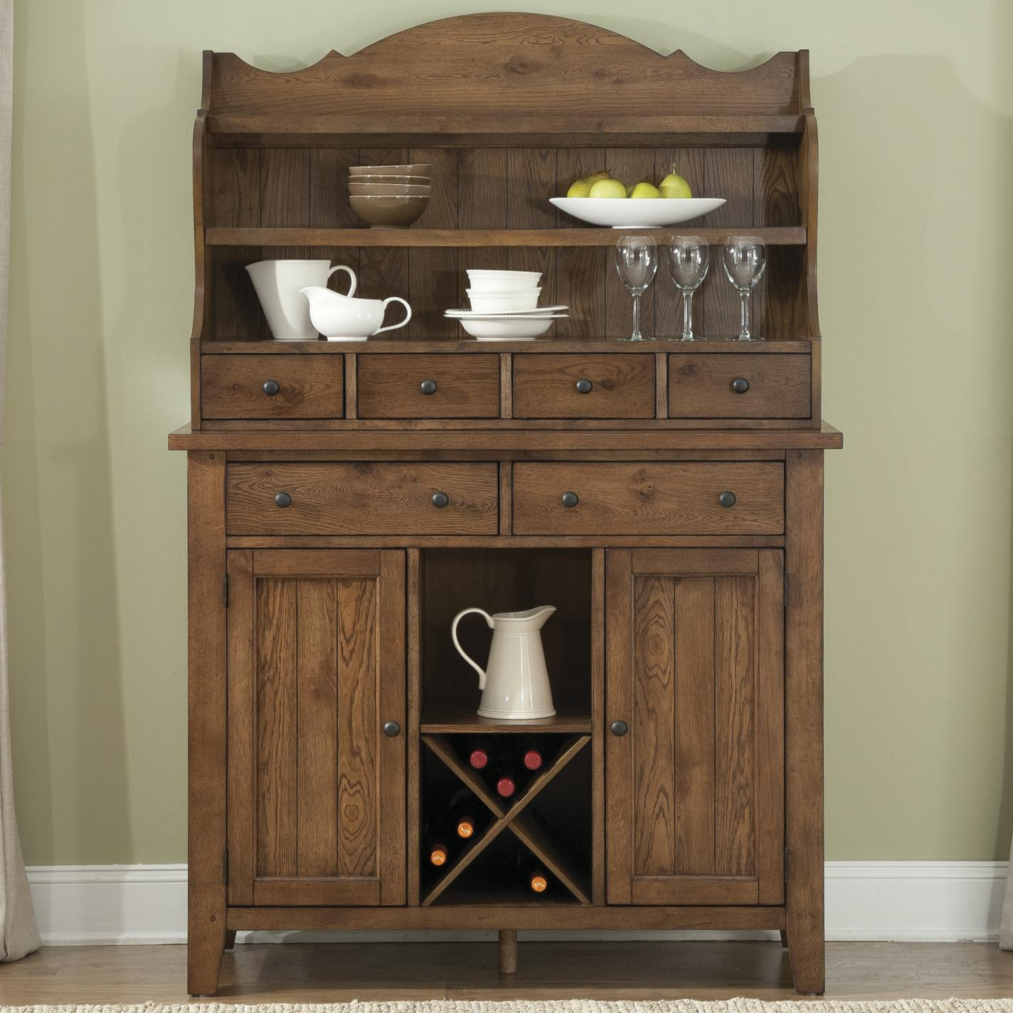 Hearthstone Server & Hutch by Liberty Furniture at Lapeer Furniture & Mattress Center