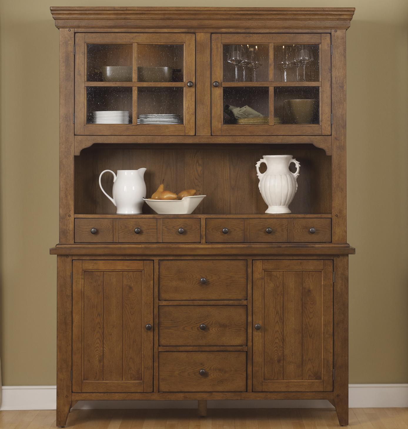 Hearthstone Hutch & Buffet by Liberty Furniture at Lapeer Furniture & Mattress Center
