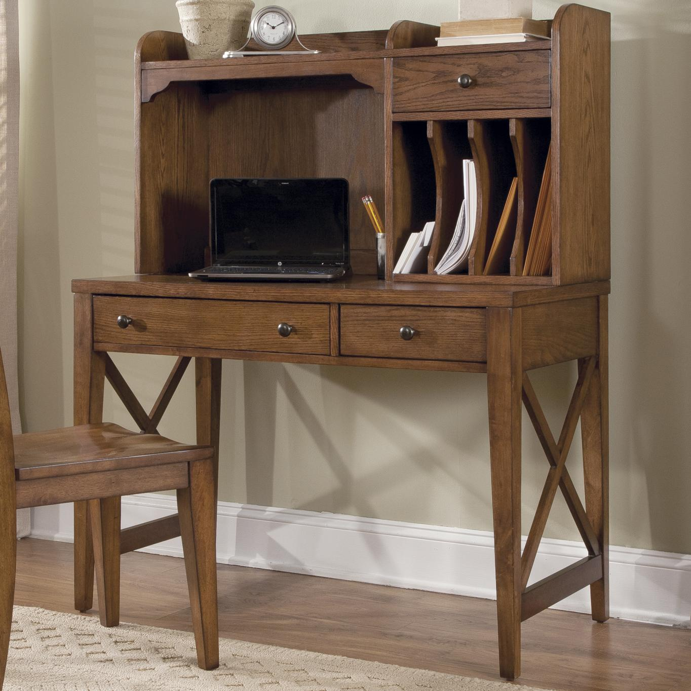 Hearthstone Desk and Hutch by Liberty Furniture at Lapeer Furniture & Mattress Center