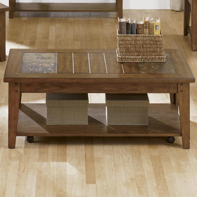Hearthstone Cocktail Table by Liberty Furniture at Lapeer Furniture & Mattress Center