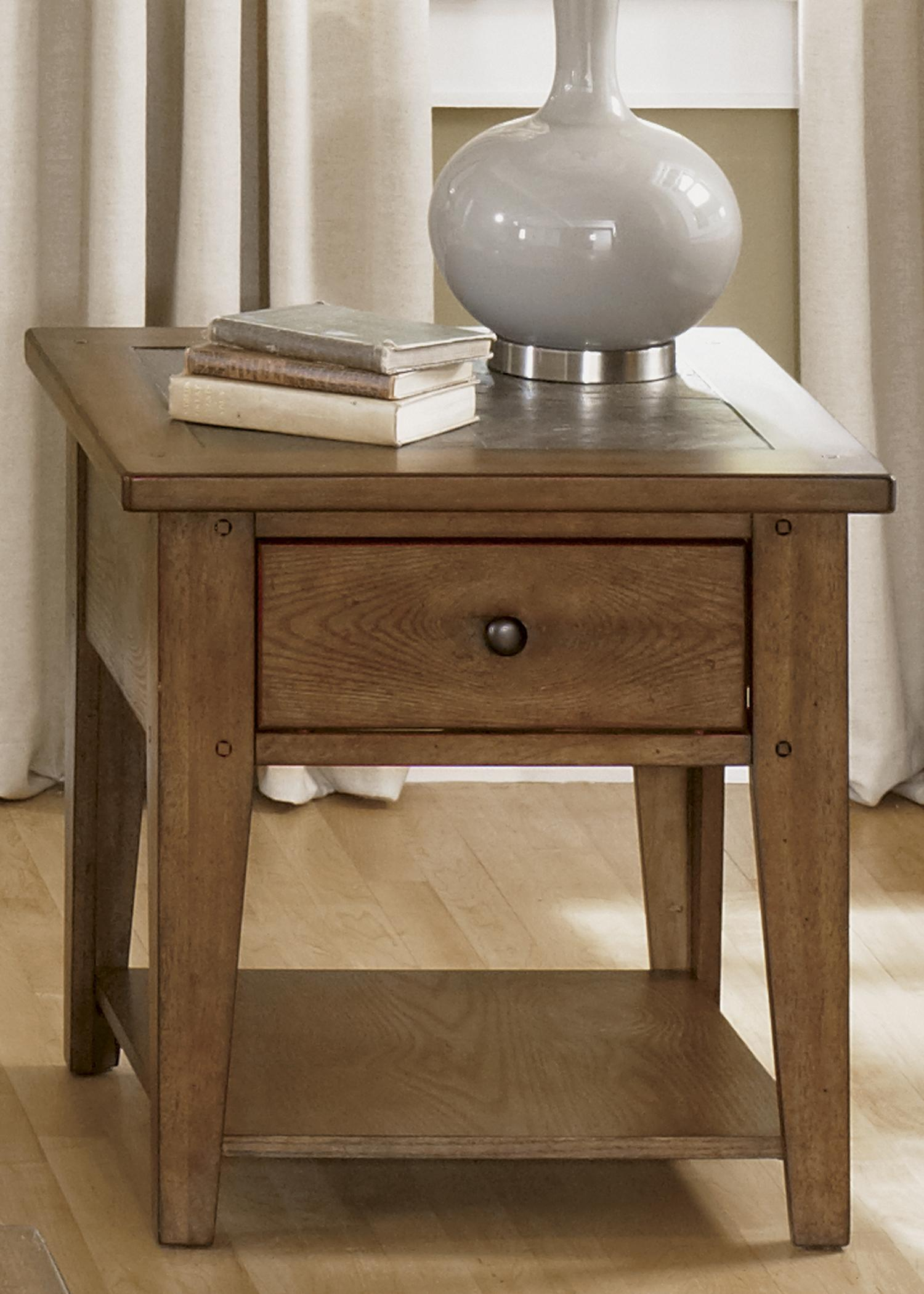 Hearthstone End Table by Liberty Furniture at Lapeer Furniture & Mattress Center