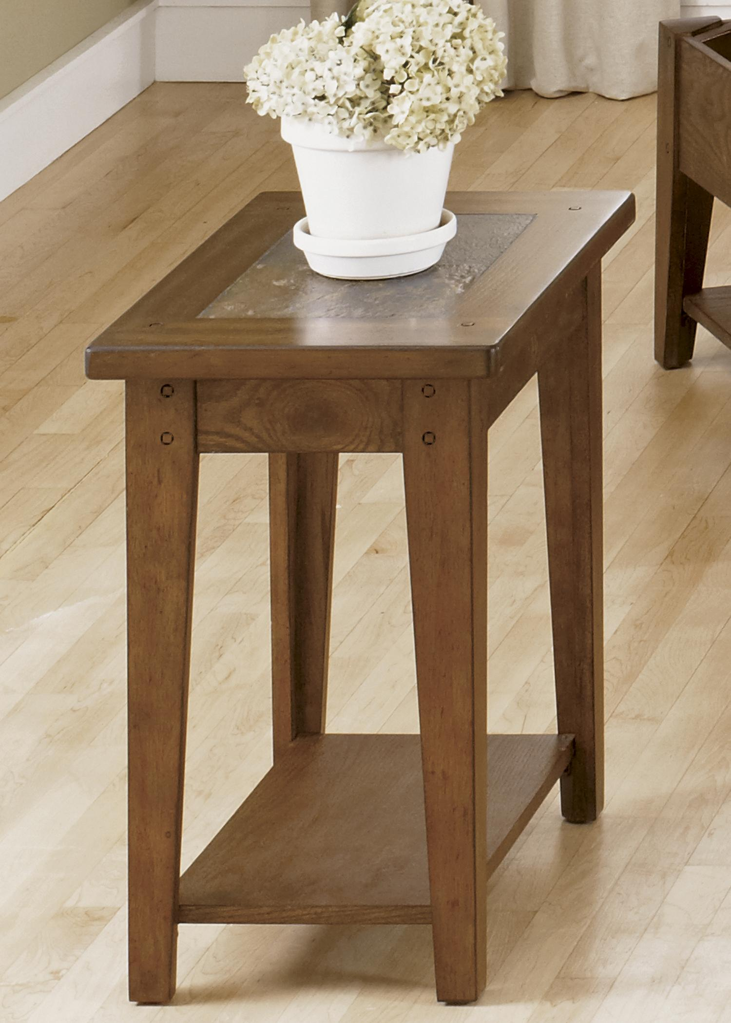 Hearthstone Chairside Table by Liberty Furniture at Lapeer Furniture & Mattress Center