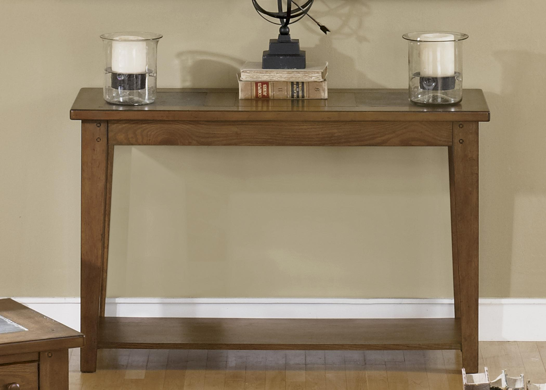 Hearthstone Sofa Table by Liberty Furniture at Lapeer Furniture & Mattress Center