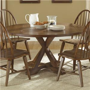 Liberty Furniture Hearthstone Drop-Leaf Pedestal Table