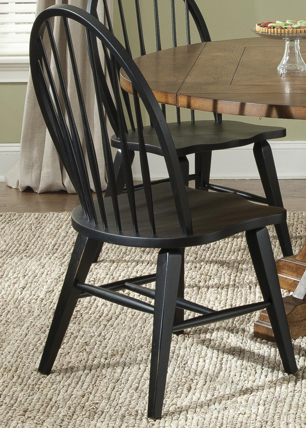 Hearthstone Windsor Back Side Chair by Liberty Furniture at Lapeer Furniture & Mattress Center