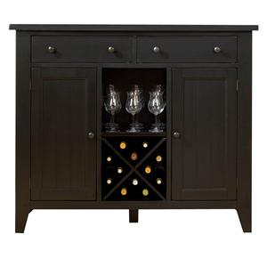 Country Style Server with Wine Storage