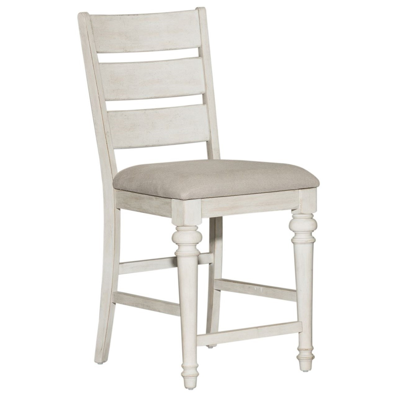 Haven Ladder Back Counter Height Chair by Libby at Walker's Furniture