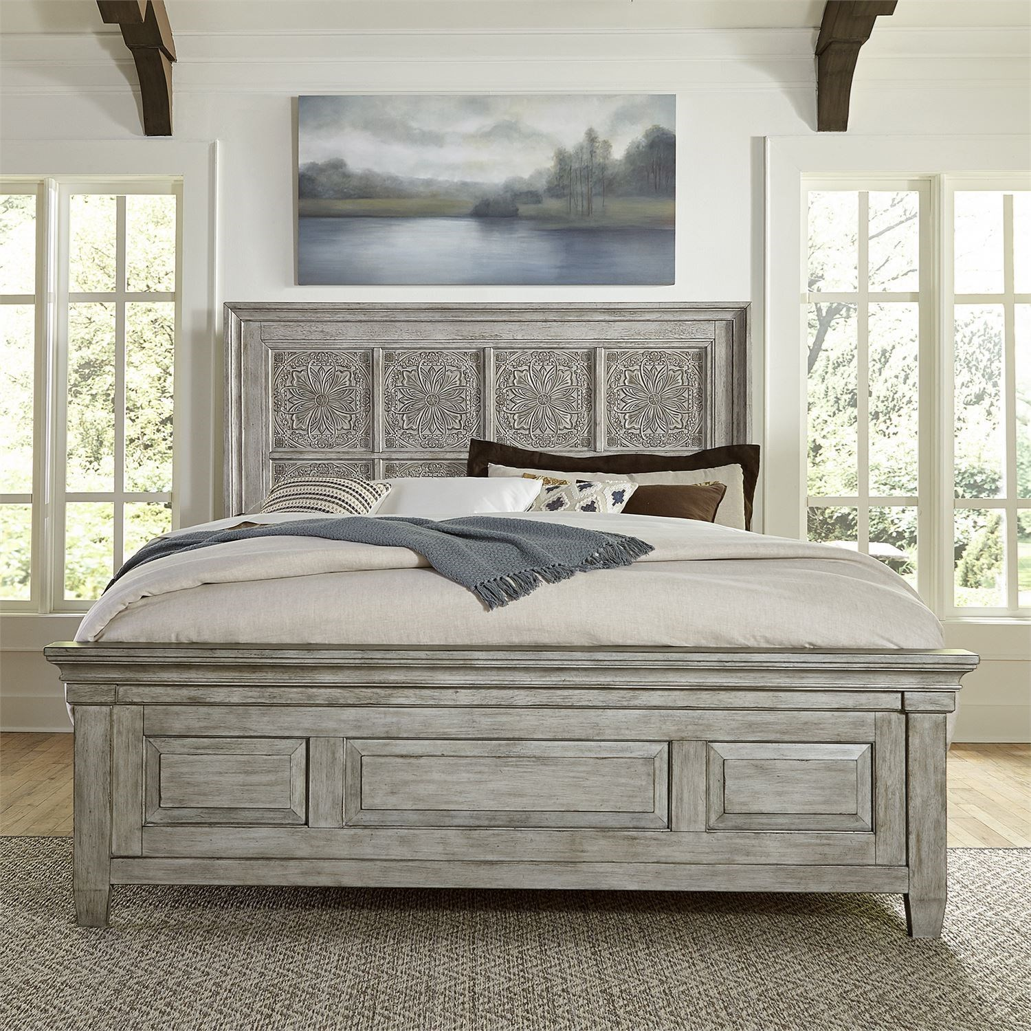 Heartland Queen Panel Bed by Liberty Furniture at Northeast Factory Direct
