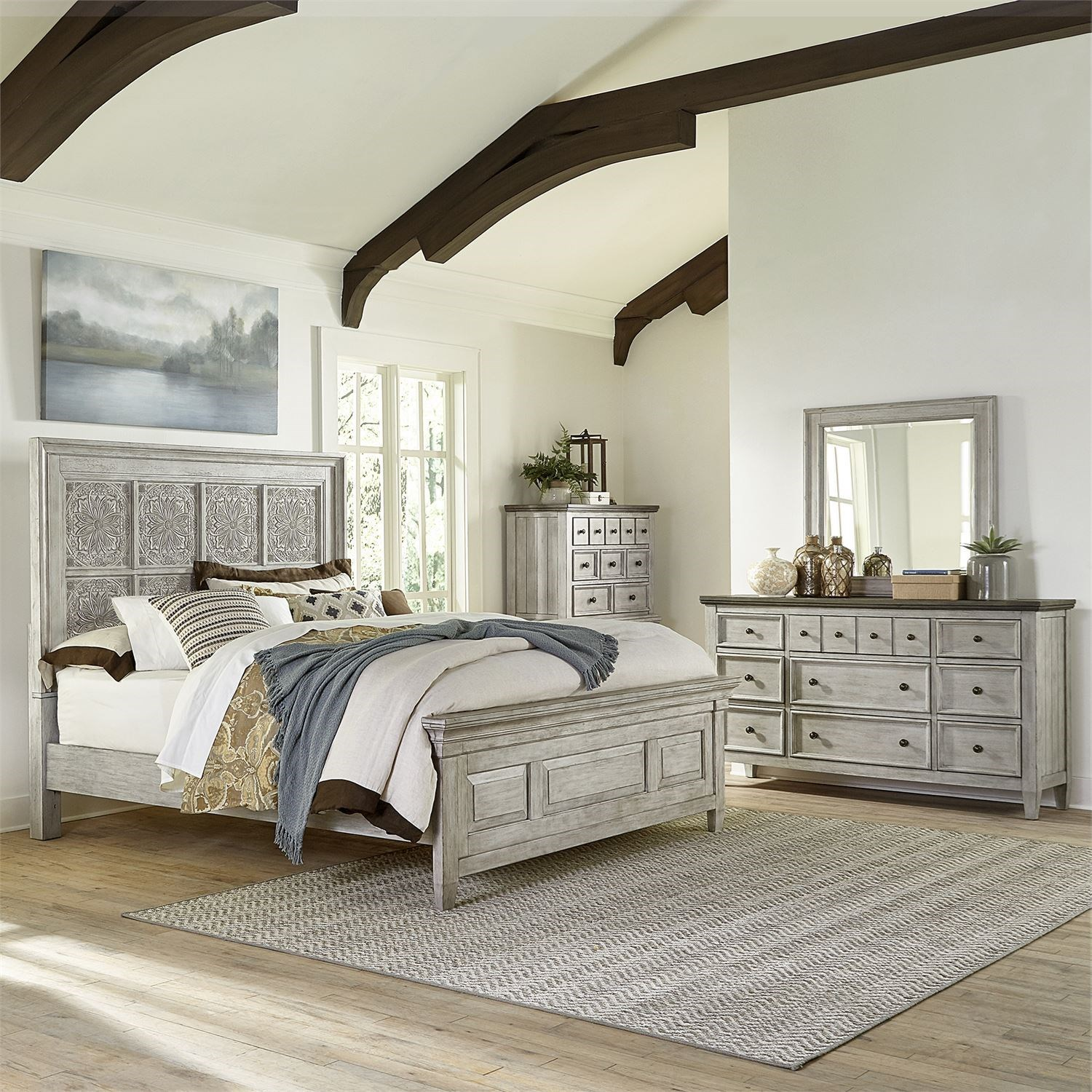 Heartland Queen Bedroom Group by Freedom Furniture at Ruby Gordon Home