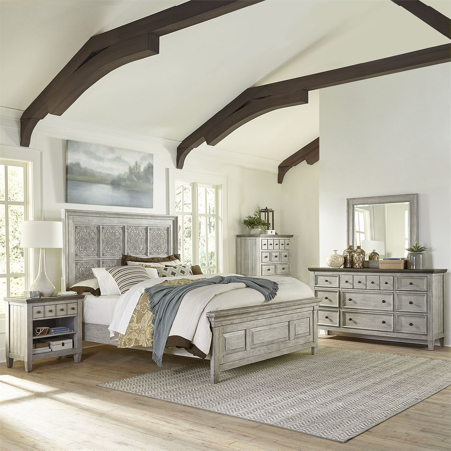 Heartland Queen Bedroom Group by Liberty Furniture at Upper Room Home Furnishings