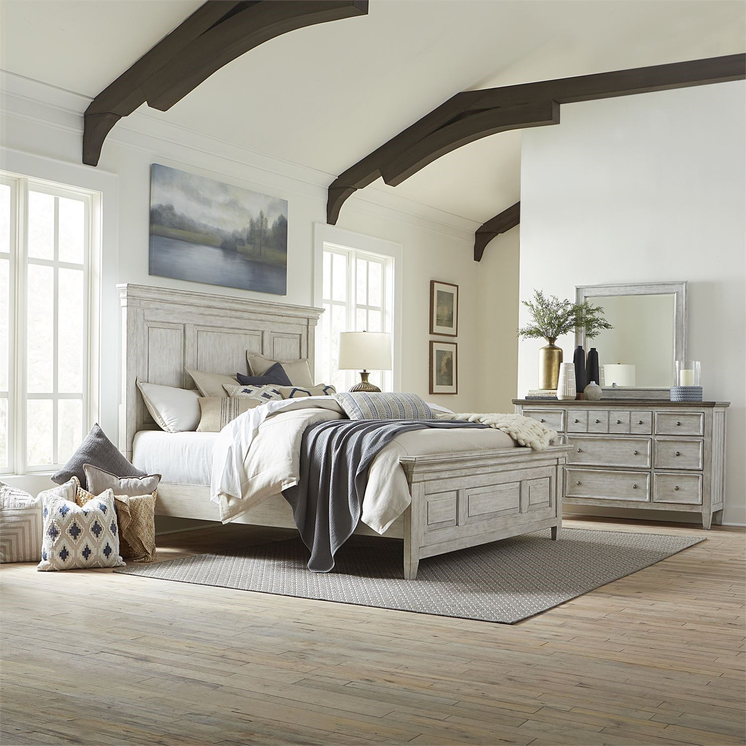 Heartland Queen Bedroom Group by Liberty Furniture at Zak's Home