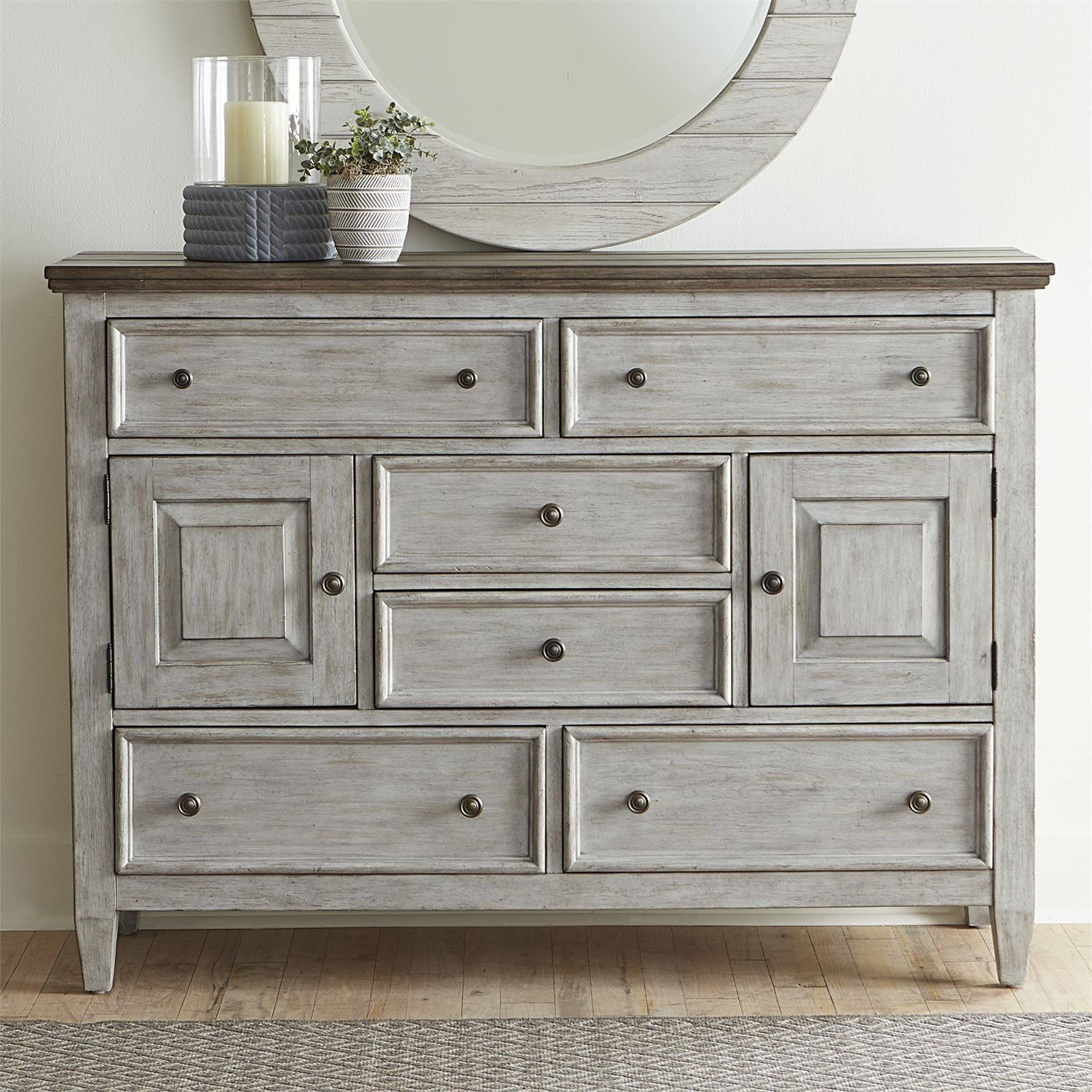 Haven 2 Door 6 Drawer Chesser by Libby at Walker's Furniture