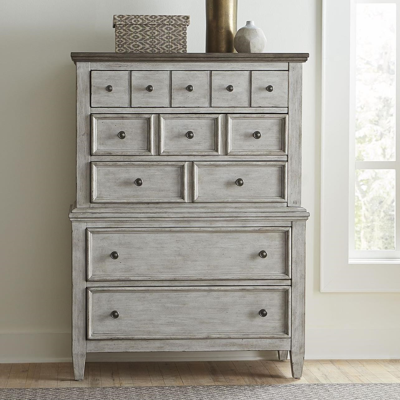 Heartland 5 Drawer Chest by Liberty Furniture at Darvin Furniture