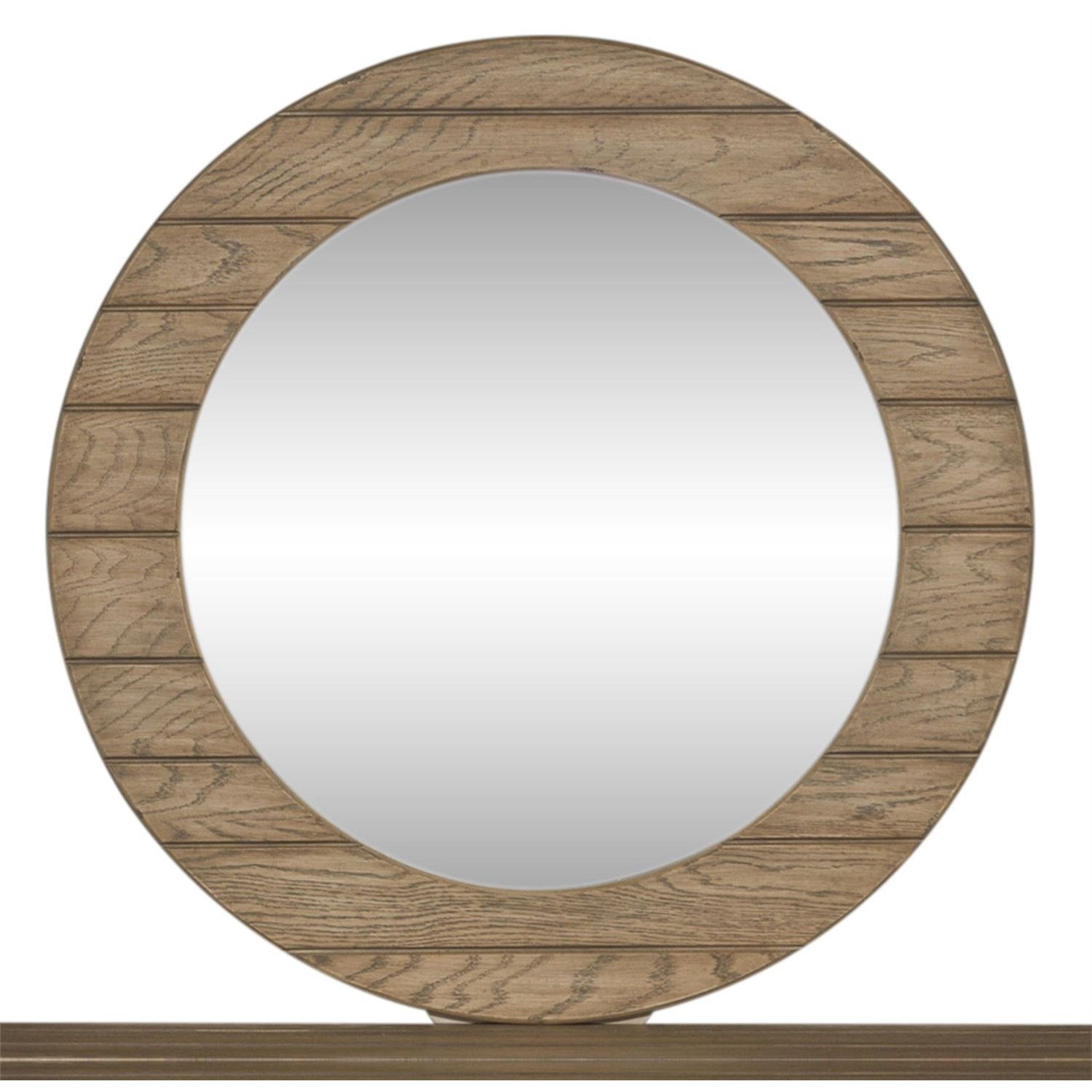 Heartland Round Mirror by Liberty Furniture at Northeast Factory Direct