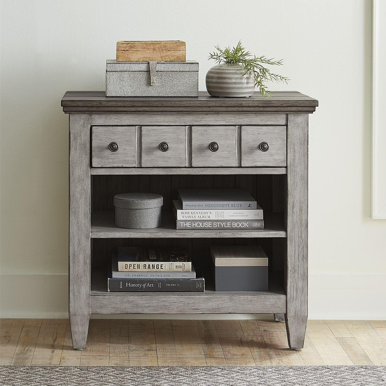Heartland 1 Drawer Nightstand with Charging Station by Liberty Furniture at Darvin Furniture