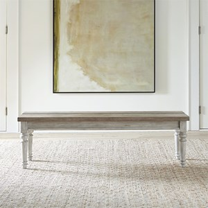 Transitional Two-Toned Dining Bench