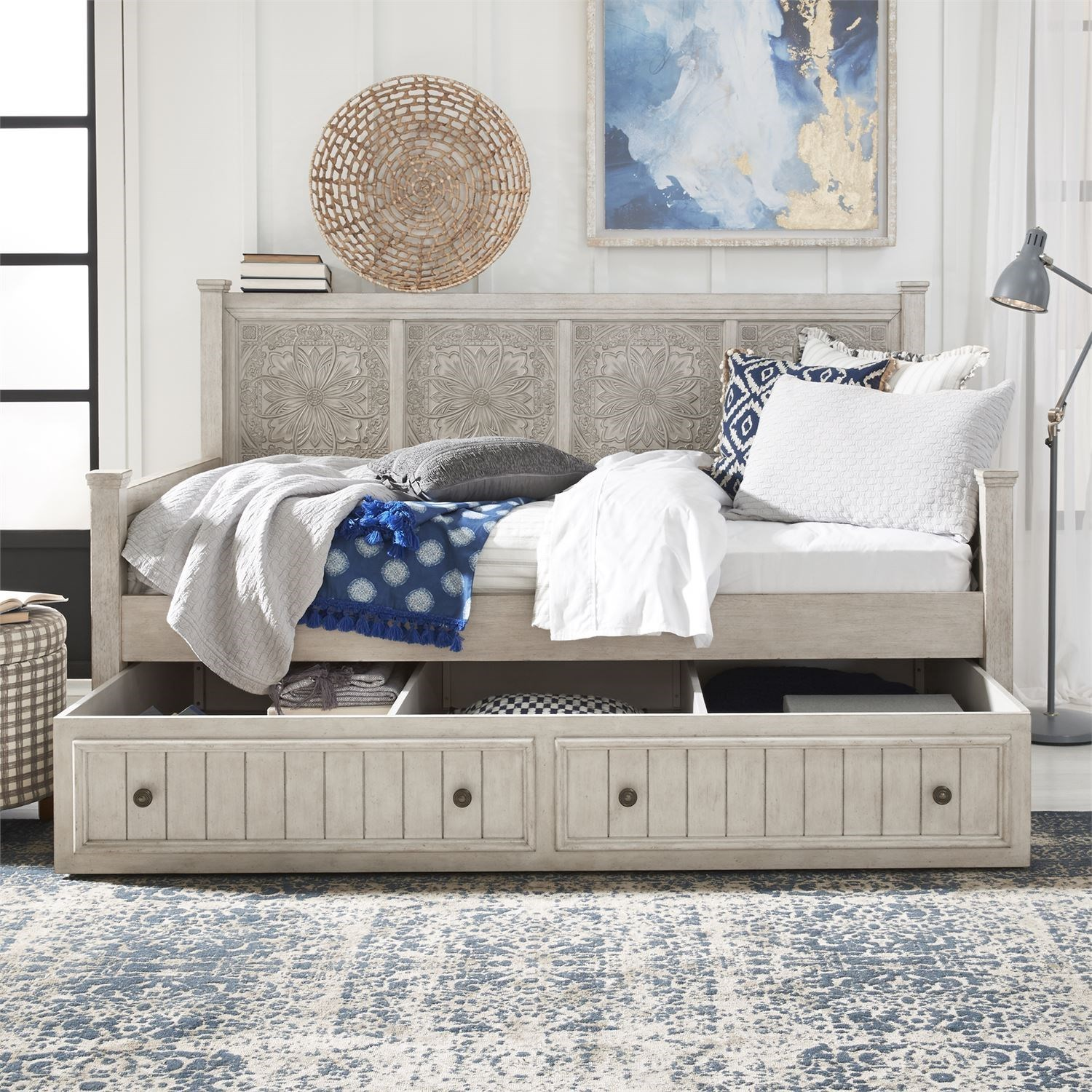 Heartland Twin Trundle Bed by Liberty Furniture at Zak's Home
