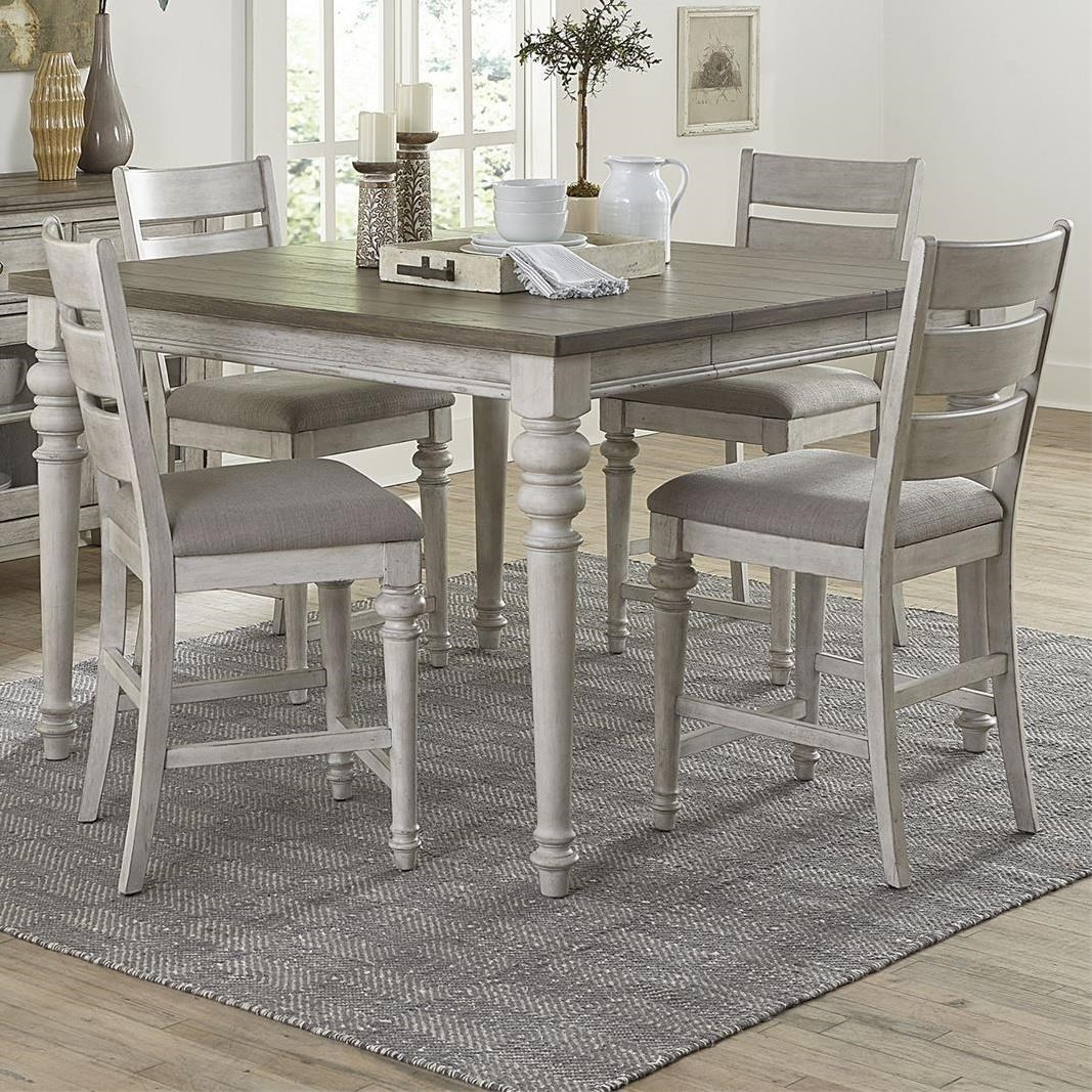 Heartland 5-Piece Gathering Table Set by Liberty Furniture at Northeast Factory Direct