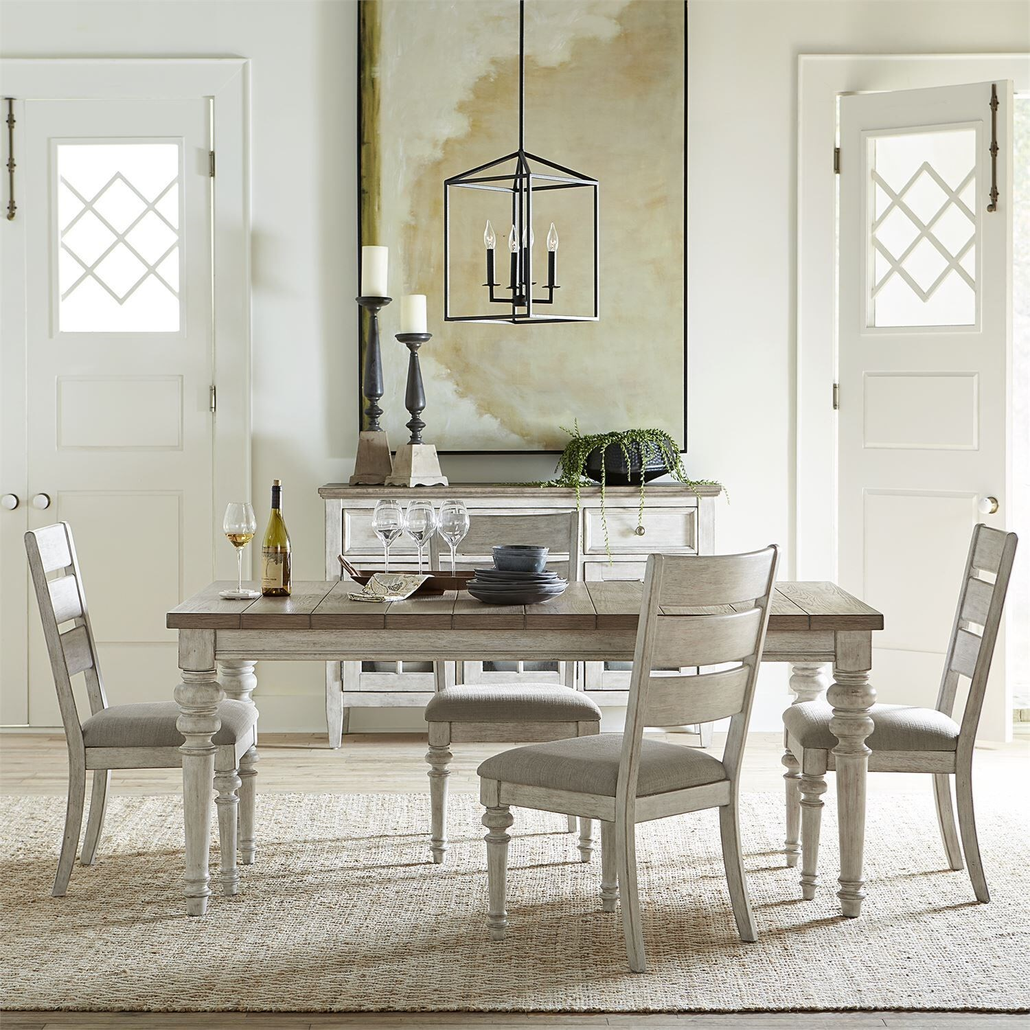Heartland 5-Piece Dining Set by Liberty Furniture at Upper Room Home Furnishings