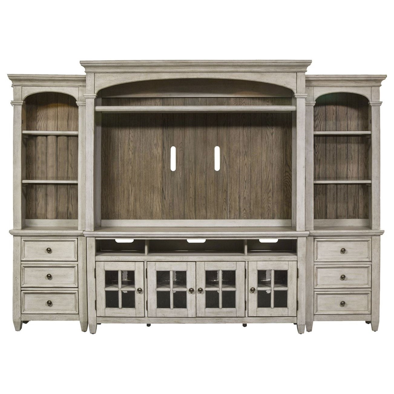 Haven Entertainment Center with Piers by Libby at Walker's Furniture
