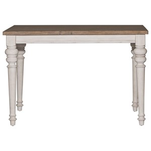 Transitional Counter Height Gathering Table with Leaf
