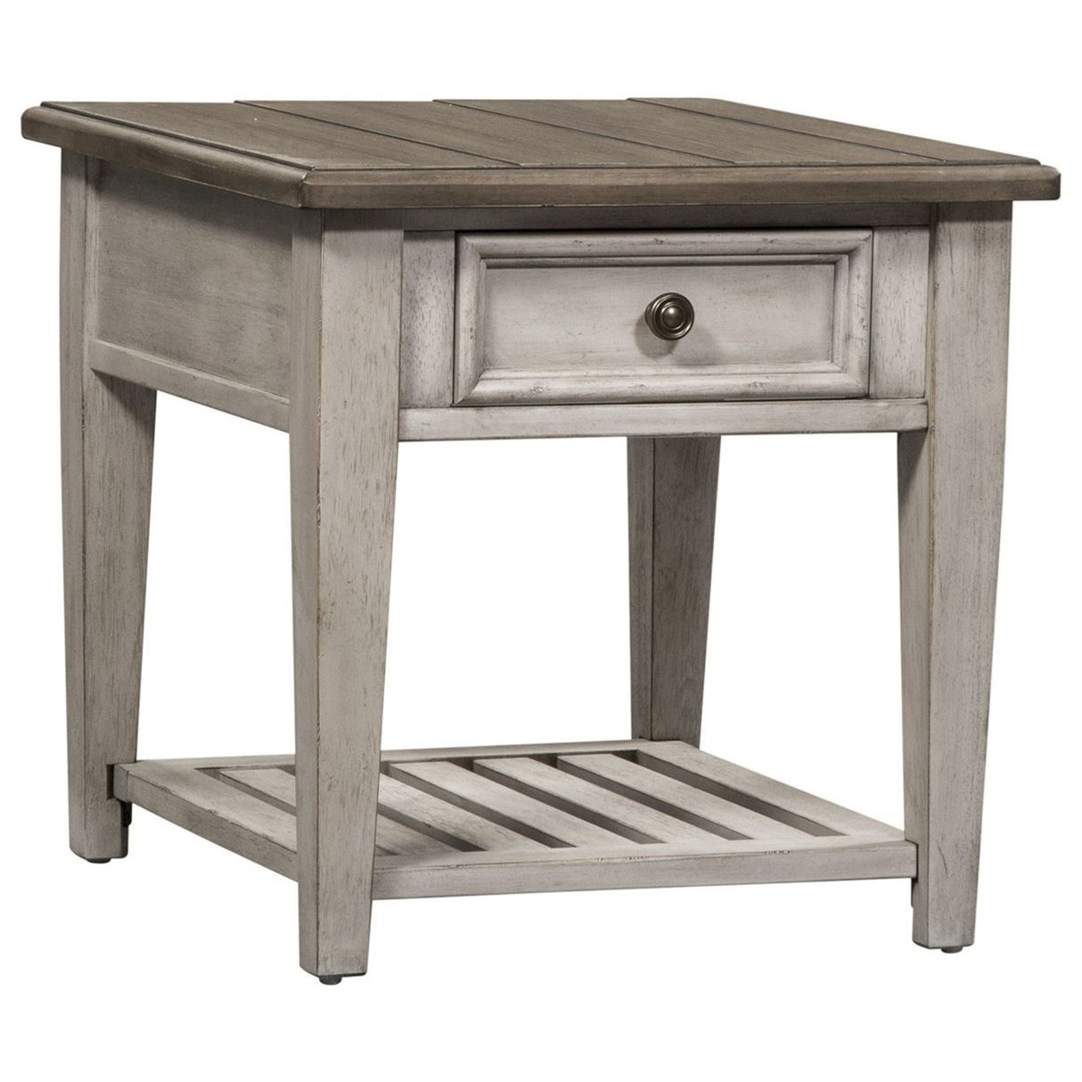 Heartland Drawer End Table by Liberty Furniture at Darvin Furniture