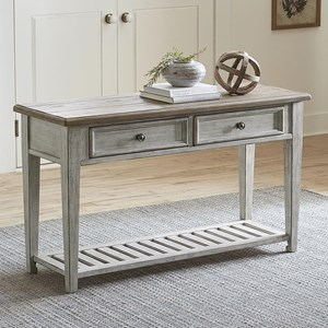 Transitional 2 Drawer Sofa Table