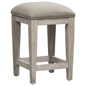 Transitional Counter Height Console Stool