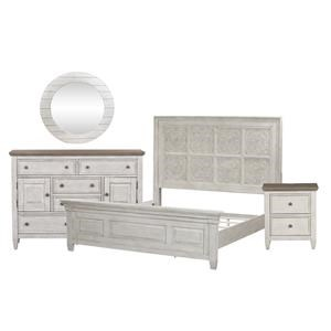 Queen Panel Bed, Chesser, Mirror, Nightstand