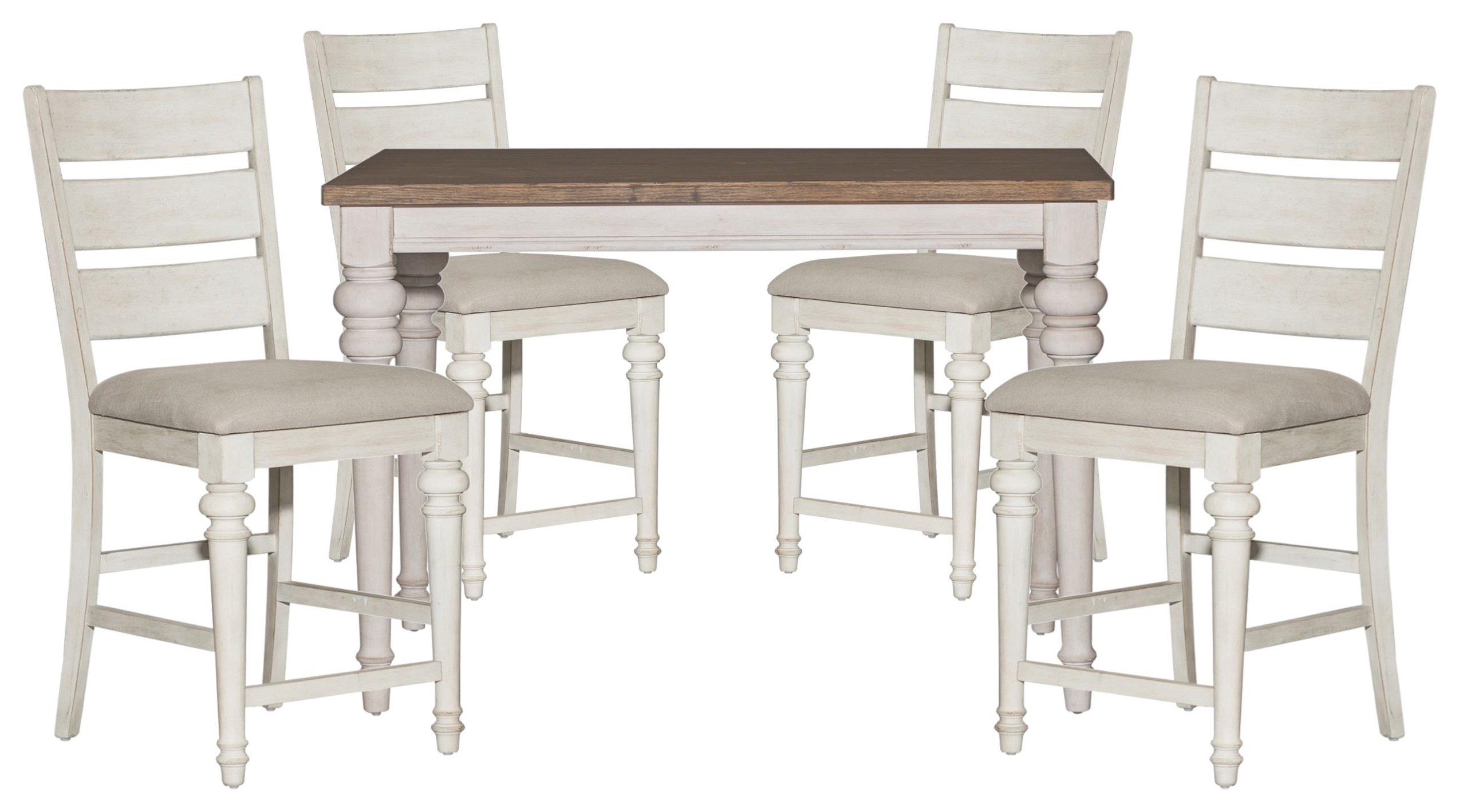 Heartland Table and Ladder Back Chairs by Liberty Furniture at Johnny Janosik