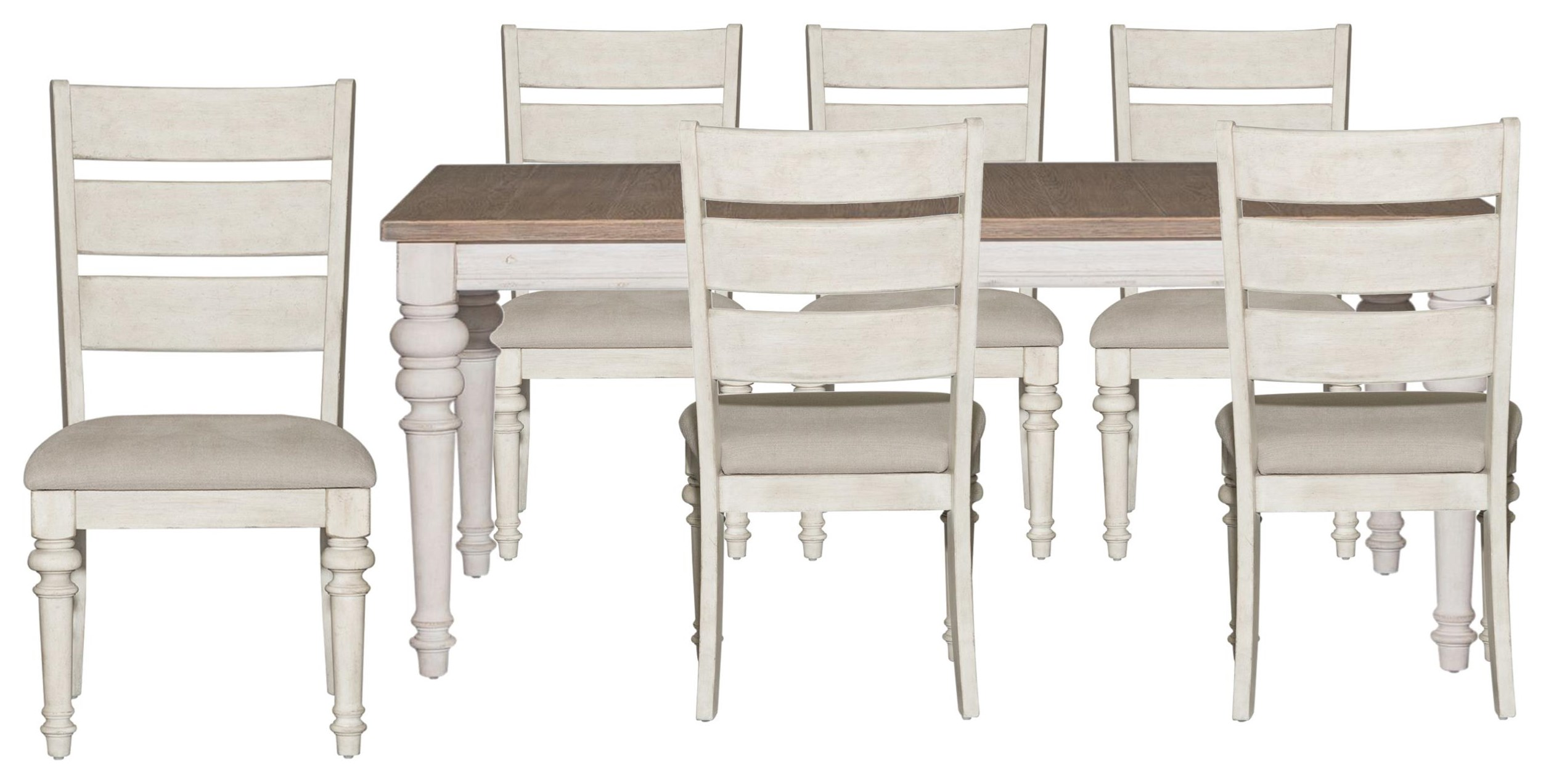 Heartland Rectangle Table and Ladder Back Chairs by Liberty Furniture at Johnny Janosik