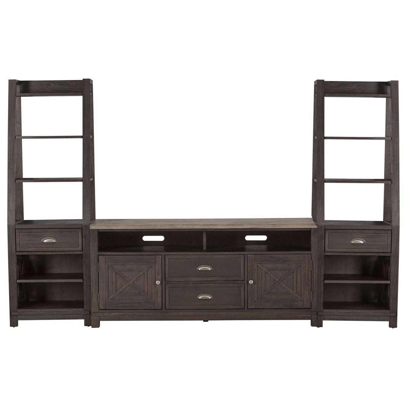Heatherbrook Entertainment Center with Piers by Libby at Walker's Furniture