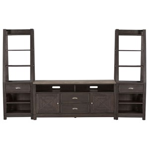 Transitional Entertainment Center with Piers