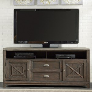 Entertainment TV Stand with Adjustable Shelves