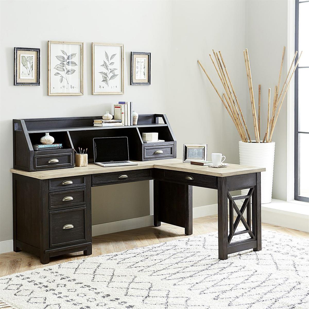 Heatherbrook L Desk W/Return by Liberty Furniture at Darvin Furniture