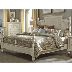Transitional King Poster Bed