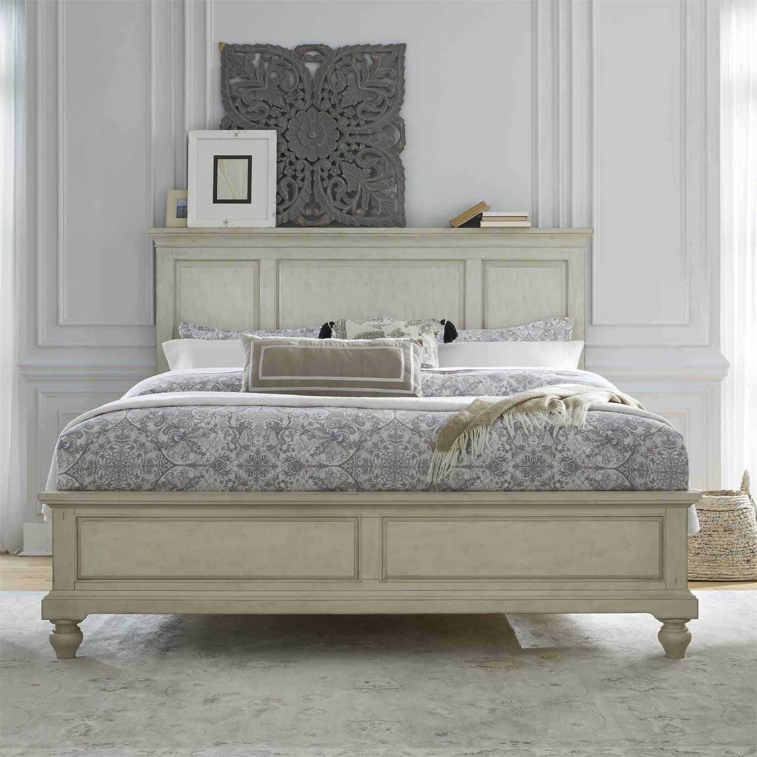 Hanna King Panel Bed by Libby at Walker's Furniture
