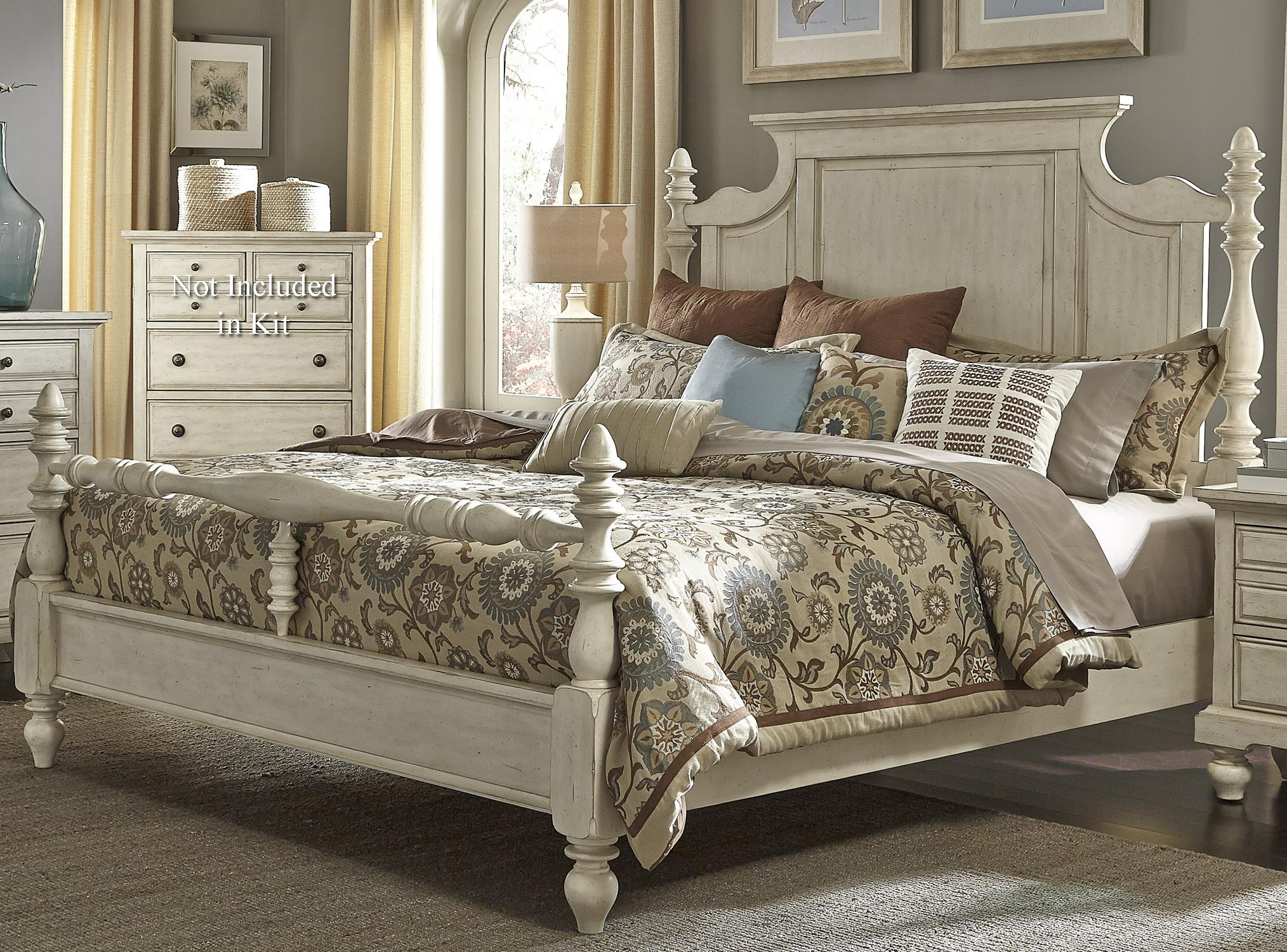 Hanna Queen Poster Bed by Libby at Walker's Furniture