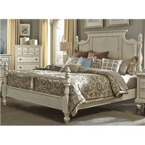 Transitional Queen Poster Bed