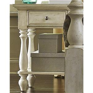 Transitional Chair Side Night Stand with 1 Drawer