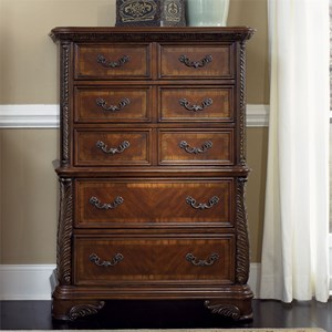 Traditional 5 Drawer Dressing Chest