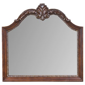 Traditional Dresser Mirror with Arched Top
