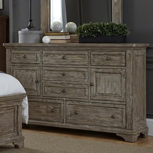 7 Drawer Dresser with 2 Doors