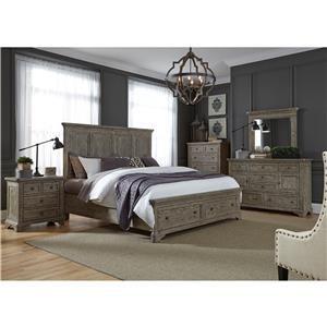 3 Piece Bedroom Set Includes King Bed, Dresser & Mirror