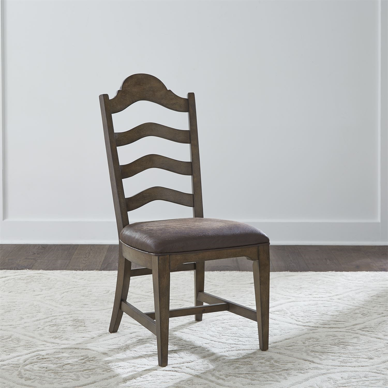 Homestead Ladder Back Side Chair by Libby at Walker's Furniture