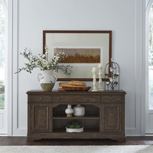 Relaxed Vintage Buffet with Subtle Distressed Finish