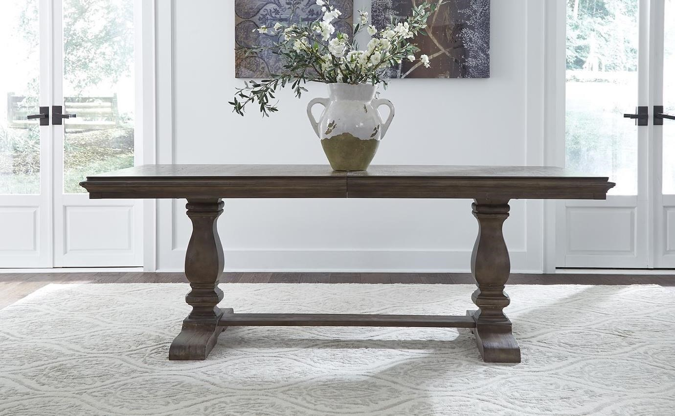 Homestead Trestle Dining Table by Libby at Walker's Furniture